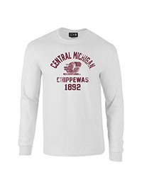 SDI Men's NCAA Mascot Block Arch Long Sleeve T-Shirt - White - Size: M