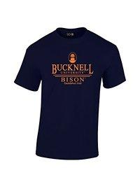 SDI Men's Bucknell Bison Classic Seal T-Shirt - Navy - Size: XX-Large