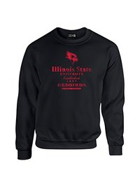 NCAA Illinois State Redbirds Stacked Vintage Crew Neck Sweatshirt, XX-Large, Black