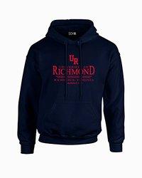 Sdi NCAA Richmond Spiders Men's Classic Seal Hoodie - Navy - Size: Medium