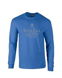 NCAA Seton Hall Pirates Classic Seal Long Sleeve T-Shirt, Small, Royal