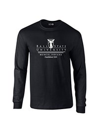 NCAA Ball State Cardinals Classic Seal Long Sleeve T-Shirt, X-Large, Black