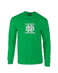 NCAA North Dakota Mascot Foil Long Sleeve T-Shirt, X-Large, Irish Green