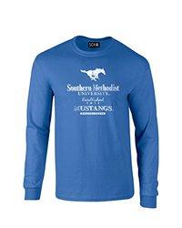 SDI NCAA Smu Mustangs Stacked Long Sleeve T-Shirt - Royal - Size: M