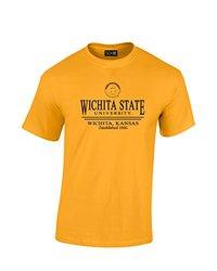 Sdi Unisex NCAA Wichita State Shockers T Shirt - Gold - Size: X Large