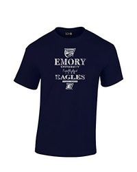 NCAA Emory Eagles Stacked Vintage T-Shirt, Small, Navy