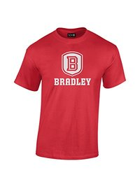 NCAA Bradley Braves Mascot Foil Short Sleeve Tee, Small, Red