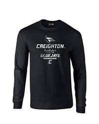 NCAA Creighton Bluejays Stacked Vintage Long Sleeve T-Shirt, Medium, Black