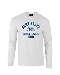 NCAA Kent State Golden Flashes Mascot Block Arch Long Sleeve T-Shirt, Large, White