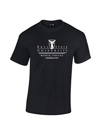 SDI NCAA Ball State Cardinals Classic Seal T-Shirt - Black - Size: Small