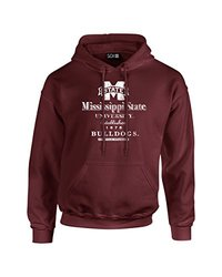 NCAA Mississippi State Bulldogs Stacked Vintage Long Sleeve Hoodie, Small, Maroon