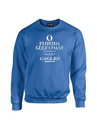 NCAA Florida Gulf Coast Eagles Stacked Vintage Crew Neck Sweatshirt, Small, Royal