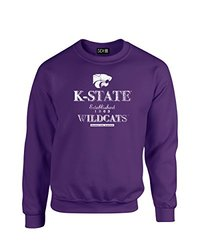 NCAA Kansas State Wildcats Stacked Vintage Crew Neck Sweatshirt, XX-Large, Purple