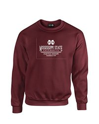 NCAA Mississippi State Bulldogs Classic Seal Crew Neck Sweatshirt, XX-Large, Maroon