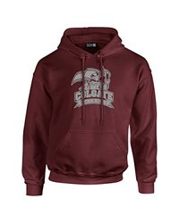 NCAA Colgate Raiders Mascot Foil Long Sleeve Hoodie, Medium, Maroon
