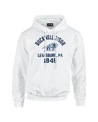 SDI NCAA Bucknell Bison Mascot Men's Long Sleeve Hoodie - Wht - Size: XXL