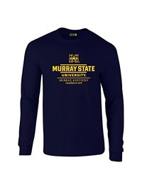 NCAA Murray State Racers Classic Seal Long Sleeve T-Shirt, Large, Navy