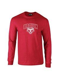 NCAA Brown Bears Mascot Foil Long Sleeve T-Shirt, Small, Red