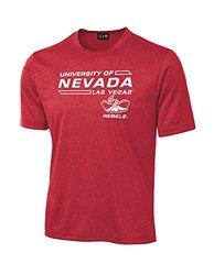 NCAA Unlv Rebels University Tech Performance T-Shirt, Small, Red