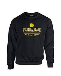 NCAA Wichita State Shockers Classic Seal Crew Neck Sweatshirt, XX-Large, Black