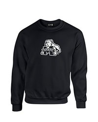NCAA Mississippi State Bulldogs Mascot Foil Crew Neck Sweatshirt, XX-Large, Black