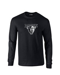 NCAA Maine Black Bears Mascot Foil Long Sleeve T-Shirt, Small, Black