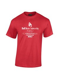 NCAA Ball State Cardinals Stacked Vintage T-Shirt, Medium, Red