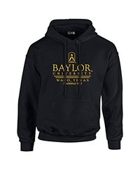 NCAA Baylor Bears Classic Seal Long Sleeve Hoodie, Small, Black