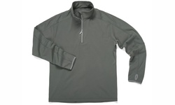 Zorrell Men's Verona 1/4 Zip Microfleece Pullover - Titanium - Size: M