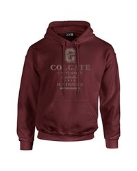NCAA Colgate Raiders Stacked Vintage Long Sleeve Hoodie, XX-Large, Maroon