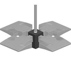 RAB Lighting PAD4  Pendant 4X Adaptor 1/2 Nps, Bronze