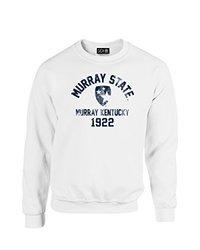NCAA Murray State Racers Mascot Block Arch Crew Neck Sweatshirt, X-Large, White