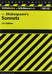 Shakespeare's Sonnets 1st Edition (Cliffs Notes Series) - CD-Audio