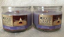 Woodcraft Cracklin Scented Candles - Garden Violettes