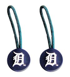 MLB Detroit Tigers Zipper Pull Luggage Pet Id Tag - Set of 2