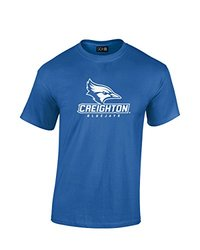 NCAA Creighton Bluejays Mascot Foil Short Sleeve Tee, XX-Large, Royal
