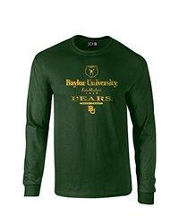 SDI Unisex NCAA Baylor Bears Stacked Long Sleeve T Shirt - Forest - Size:S