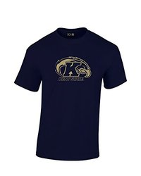 NCAA Kent State Golden Flashes Mascot Foil Short Sleeve Tee, Large, Navy