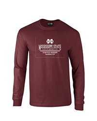 NCAA Mississippi State Bulldogs Classic Seal Long Sleeve T-Shirt, Large, Maroon