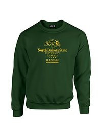 NCAA North Dakota State Stacked Vintage Crew Neck Sweatshirt, Large, Forest