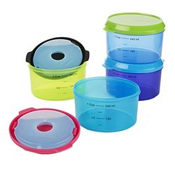 Fit & Fresh Kid's 1 Cup Chilled Lunch Containers Set (Set of 4