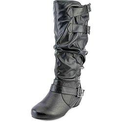Journee Women's Wide-Calf Buckle Slouch Boots - Black - Size: 8