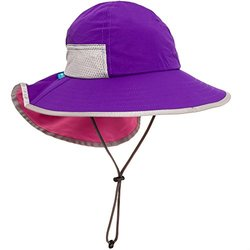 Sunday Afternoons Kid's Play Sun Hat - Grape & Pink - Size: 2-5 years