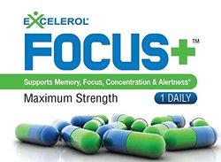 Excelerol Focus+ Brain Supplement Pill, Maximum Strength 6 Capsules Pack