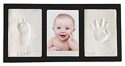 Clay Handprint & Footprint Keepsake Photo Wall Frame black