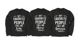 Women's Grandparent Crewneck Fleece: My Favorite People Nonnie/xl