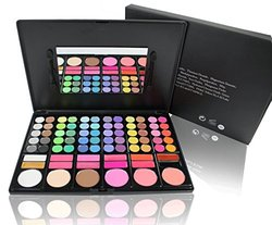 Eninyon All-in-1 Compact Makeup Palette w/ Built-in Mirror & 2 Brushes