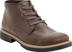 Marco Vitale Men's Lace Up Ankle Combat Chooka Casual Boots:brown/8.5