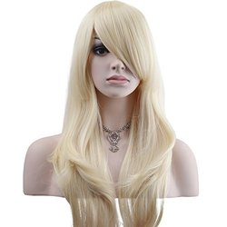 "YOPO Women's 28"" Long Big Wavy Hair Cosplay Party Costume Wig - Blonde"