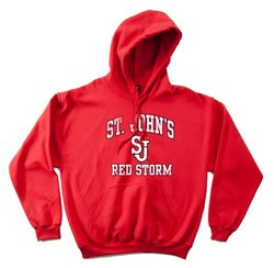 NCAA St. John's Red Storm 50/50 Blended 8-Ounce Vintage Mascot Hooded Sweatshirt, X-Large, Red